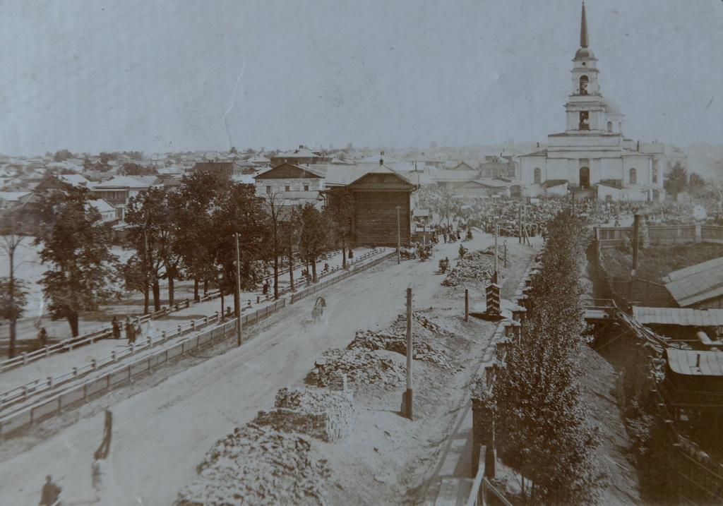 Плотина и собор. Нач. 1900-х гг..