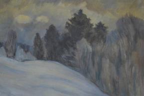 Зимний пейзаж, пастель (1980-е гг..)