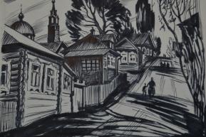 На горе, тушь (1970-80-е гг..)