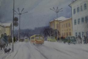 Улица Кирова, акварель (1983 г.)