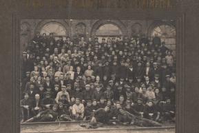 Группа рабочих и служащих Молотилочного, Малярного и конограбельного цеха (1928-1930 год)
