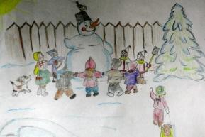 Салина Полина 1 «В» класс Воткинский лицей (педагог – Светлана Сергеевна Давыдова)