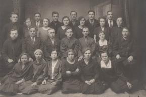Рабочие литейного цеха Воткинского завода (1931 год)