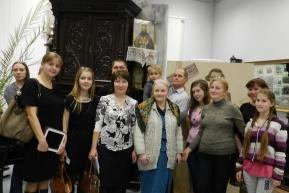 Потомки Василия Федоровича Бердникова на выставке «Есть имена и есть такие даты…». 12 октября 2013 года.